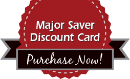 Pucrhase your Major Saver discount card now!